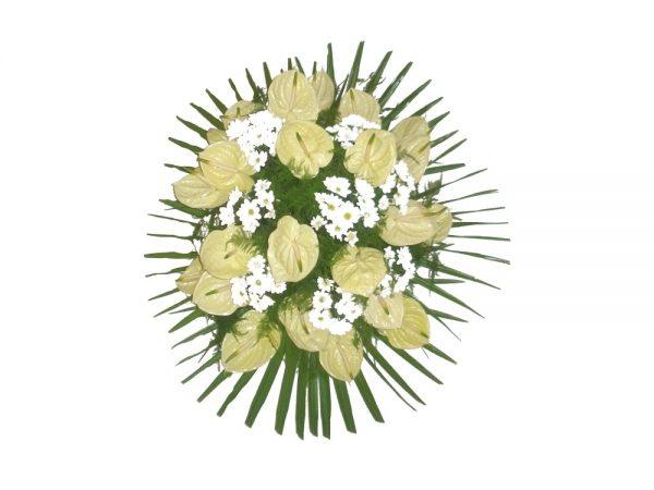 Wieniec pogrzebowy w pastelowych kolorach z lilii 3